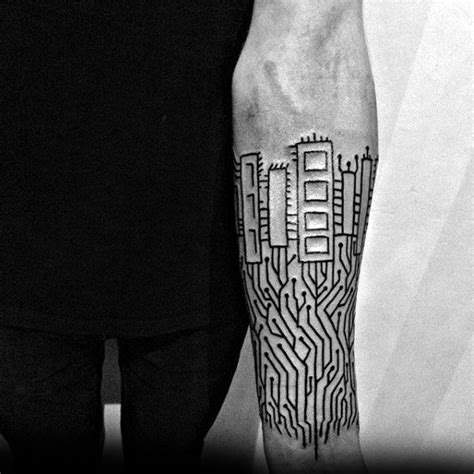 electronic tattoos 60 circuit board designs for electronic ink ideas