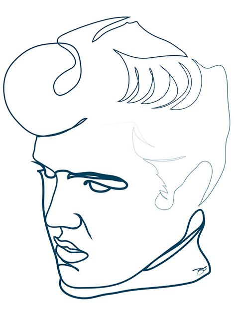 how to draw doodle lines quot elvis one line drawing quot stickers by borol redbubble