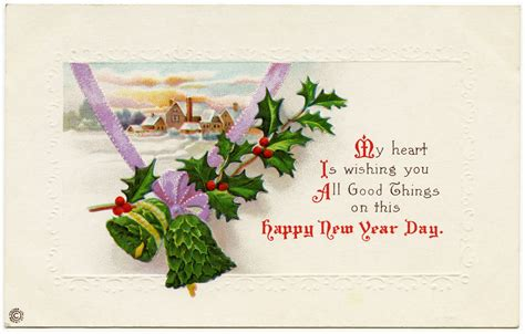 new year postcard vintage happy new year postcard design shop