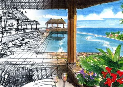 design concept for beach resort using sketches to design a costa rican resort jim