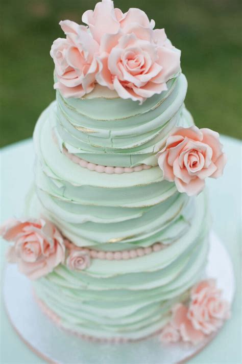 25 mint wedding cakes you ll love mon cheri bridals