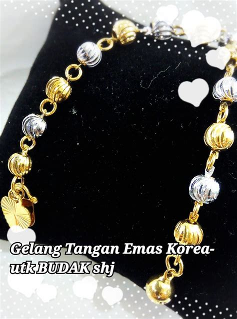 Gt267 Gelang Tangan Korea 1 gelang tangan emas korea buda end 11 9 2017 1 15 pm myt