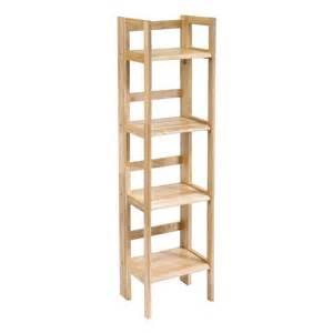 Kids Bookshelf Espresso Winsome 4 Tier Foldable Shelf Narrow By Oj Commerce 81852