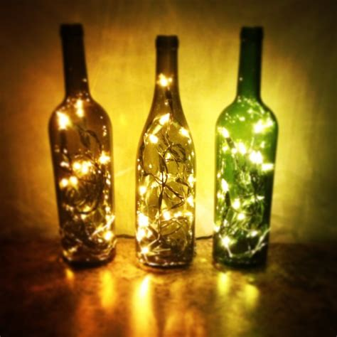 wine bottle christmas lights wedding planning pinterest