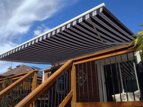 permanent deck awnings retractable permanent awnings fabric awnings and patio