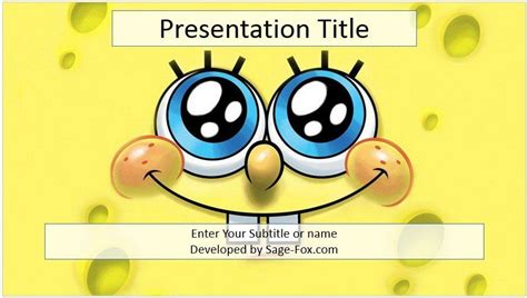 Free Cartoon Powerpoint Template 4134 Sagefox Powerpoint Templates Ppt Templates