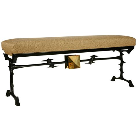 van bench bronze bench by peter van heeck for sale at 1stdibs