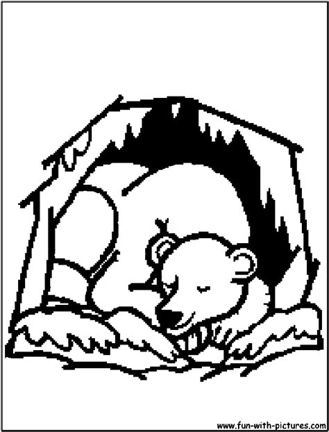 free coloring pages of hibernation