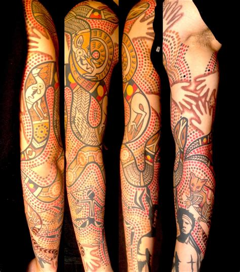 aboriginal tribal tattoo australian aboriginal style tattoos