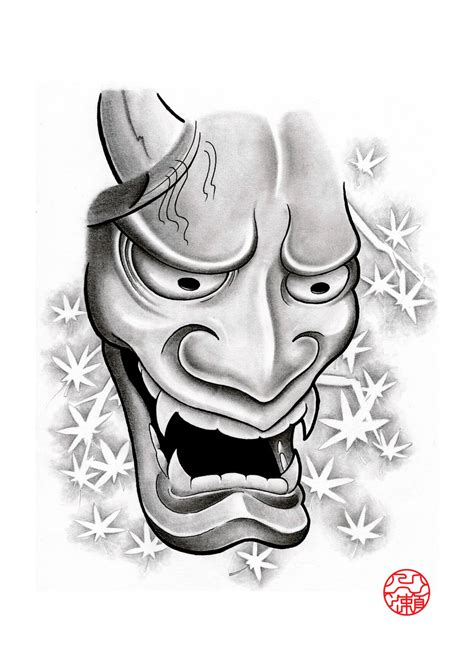 small hannya mask tattoo hannya mask 2 by laranj4 on deviantart