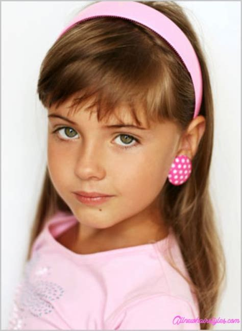 girl hairstyles with side bangs little girl haircuts with side bangs allnewhairstyles com