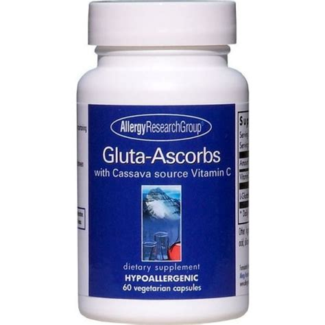 Vitamin Glutathione Allergy Research Gluta Ascorbs Glutathione
