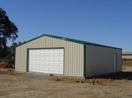 Metal Shed Garage Building Steel Metal 2 Car Garage Building Kit 576 Sq Workshop Barn