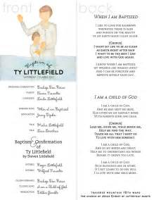 baptism program template lds watercolor baptism program www maliacreative lds