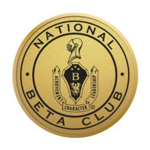 Beta Club Thrives At National the national beta club gold engraved medallion certificate frame in hshire item 219490