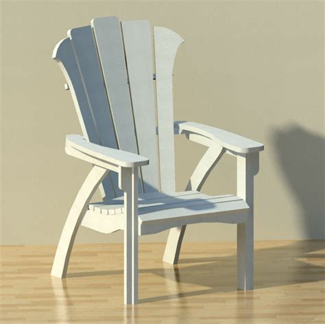 Modern Patio Chairs by Modern Adirondack Patio Chair 3d Model Formfonts 3d