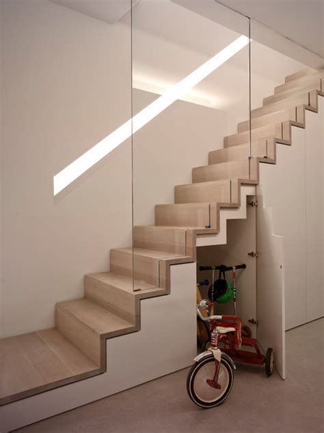 The Vawdrey House Storage spaces Modern Staircase Sussex by The Vawdrey House