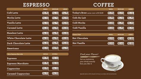 Menu Coffee Bean And Tea Leaf menu 1220hsl betsy de cafe