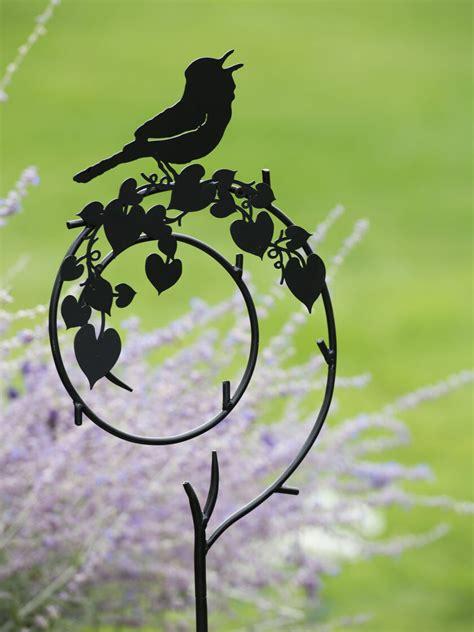 shepherds crook metal yard art stake  bird gardenerscom