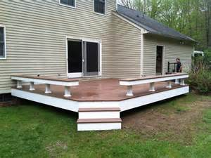 deck with built in seating deck ideas pinterest