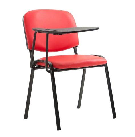 sedie conferenze sedia conferenze moby pelle con scrittoio colore rosso