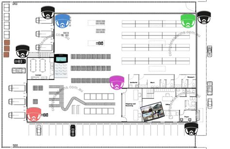 Small Business Office Floor Plans by Warehouse Factory Security Package Complete Alarms Sydney