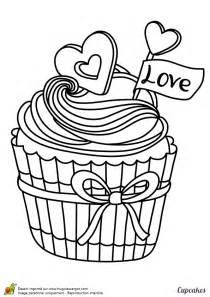 Coloriage D Un D 233 Licieux Cupcake Pour Les Amoureux