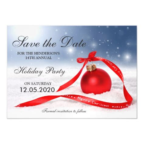 save the date holiday party free template festive save the date template magnetic card zazzle
