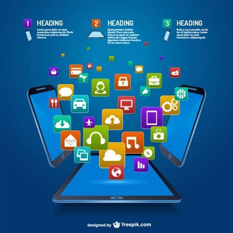 gratis mobile mobile app infographic vector free