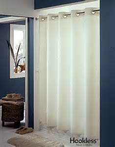 plainweave hookless shower curtain