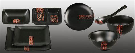 Schwarzes Geschirr Set by Pinselstrich Geschirr Sets Japanische K 252 Che Japanwelt