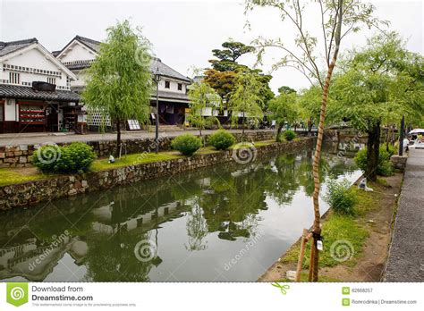 japanese town kurashiki city japanese town in okayama stock photo