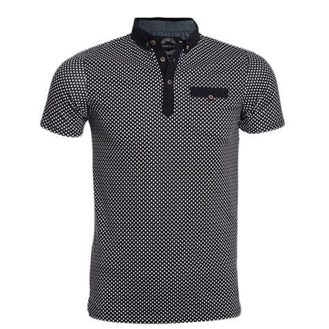 shirt design maker uk new mens polo shirt short sleeve polka dot top designer