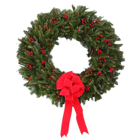 holiday wreath 24 inch berry christmas holiday wreath