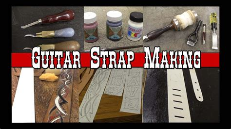 How To Make A Handmade - guitar part 1 how to make custom leather