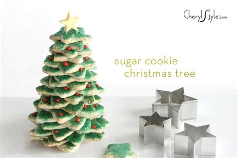 stacked sugar cookies christmas tree recipe