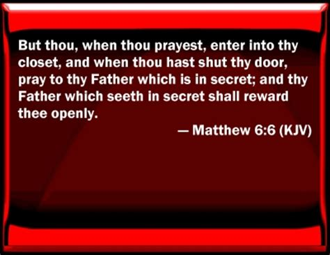 Go Into Your Closet And Pray by Bible Verse Powerpoint Slides For Matthew 6 6