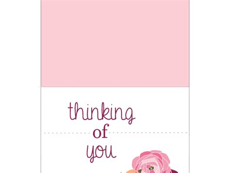 printable card thinking of you quot thinking of you quot card free printable