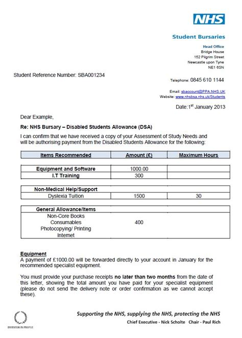 Student Finance Notification Letter Dsa Microlink