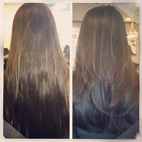before and after layered haircuts before after long layers hair makeup skin