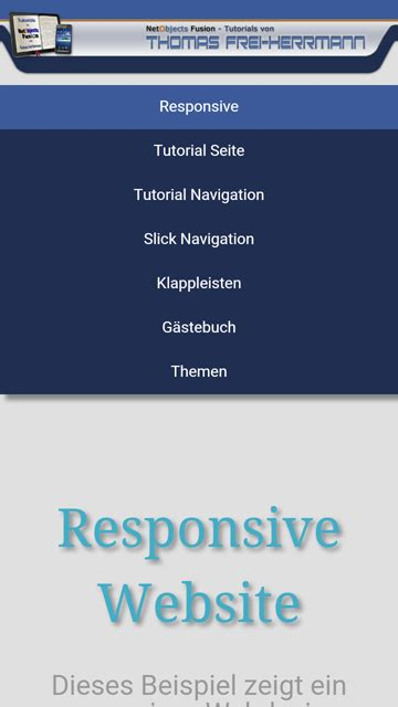 tutorial web design css tutorial netobjects fusion responsive navigation
