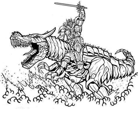 Optimus Prime Coloring Pages And Grimlock Coloringstar Grimlock Coloring Page