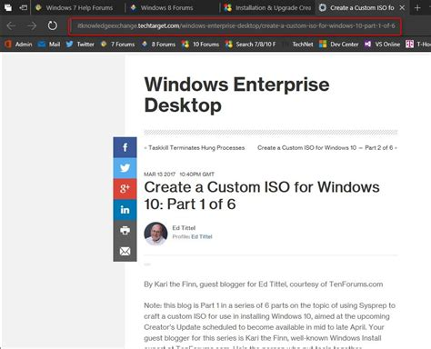 Tutorial Windows 10 Iso | create windows 10 iso image from existing installation