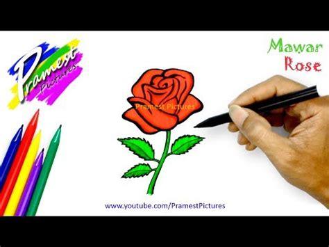 catatanku anak desa mewarnai gambar bunga mawar  pot