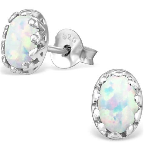 black opal 6mm trillion stud earrings 925 sterling 925 sterling silver opal stud earrings www anjasmagicbox