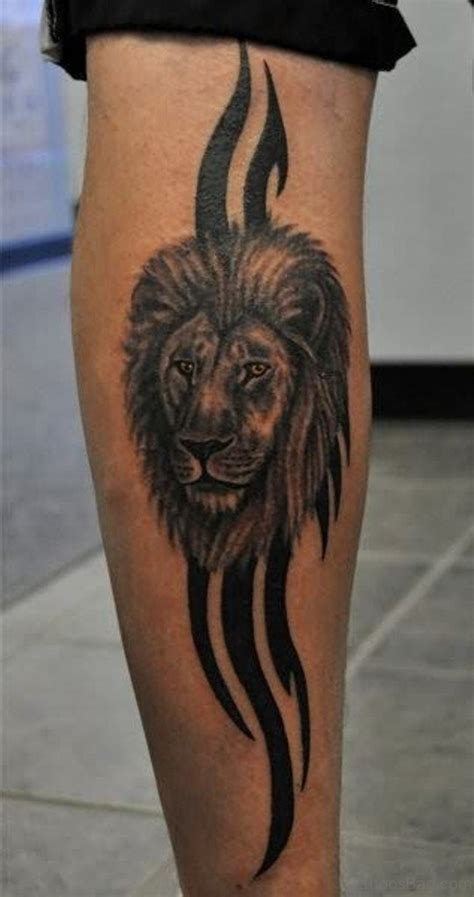 36 nice looking lion tattoos for leg