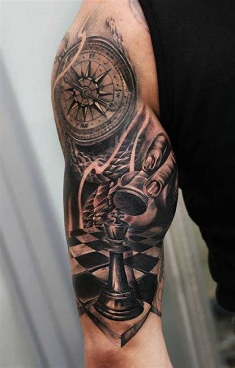 kompass kreuz tattoo tattoo schachfigur kompass arm tattoos pinterest