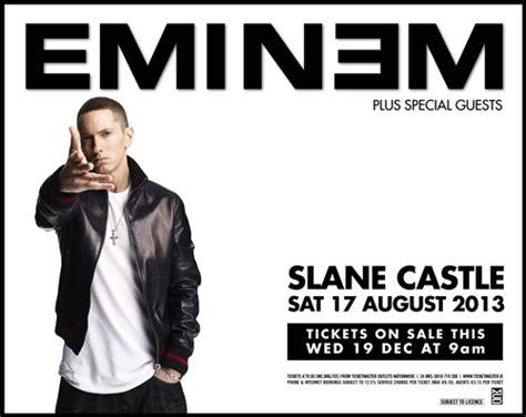eminem castle eminem lovers eminem performing at slane castle in august