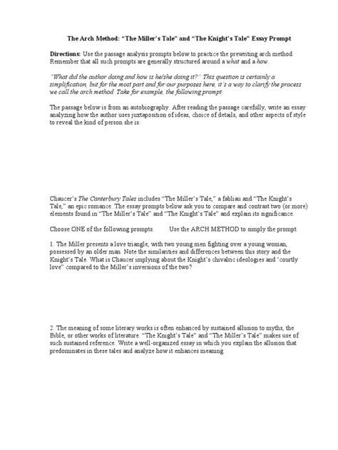 Canterbury Tales Essay Questions by Canterbury Tales Essay Questions Canterbury Tales Essay Questions Pocket Resume Apk American