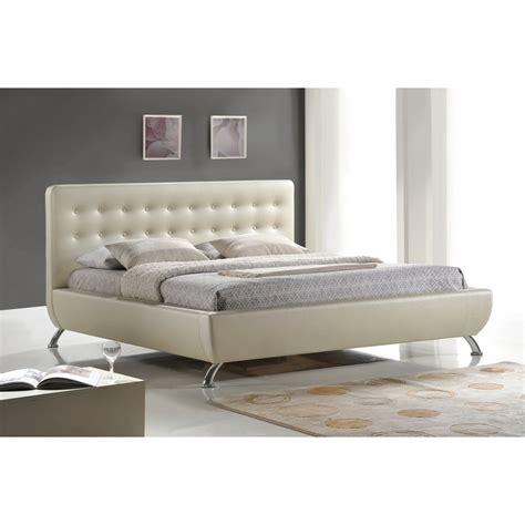 padded headboard queen size bed elizabeth pearlized almond modern bed with upholstered